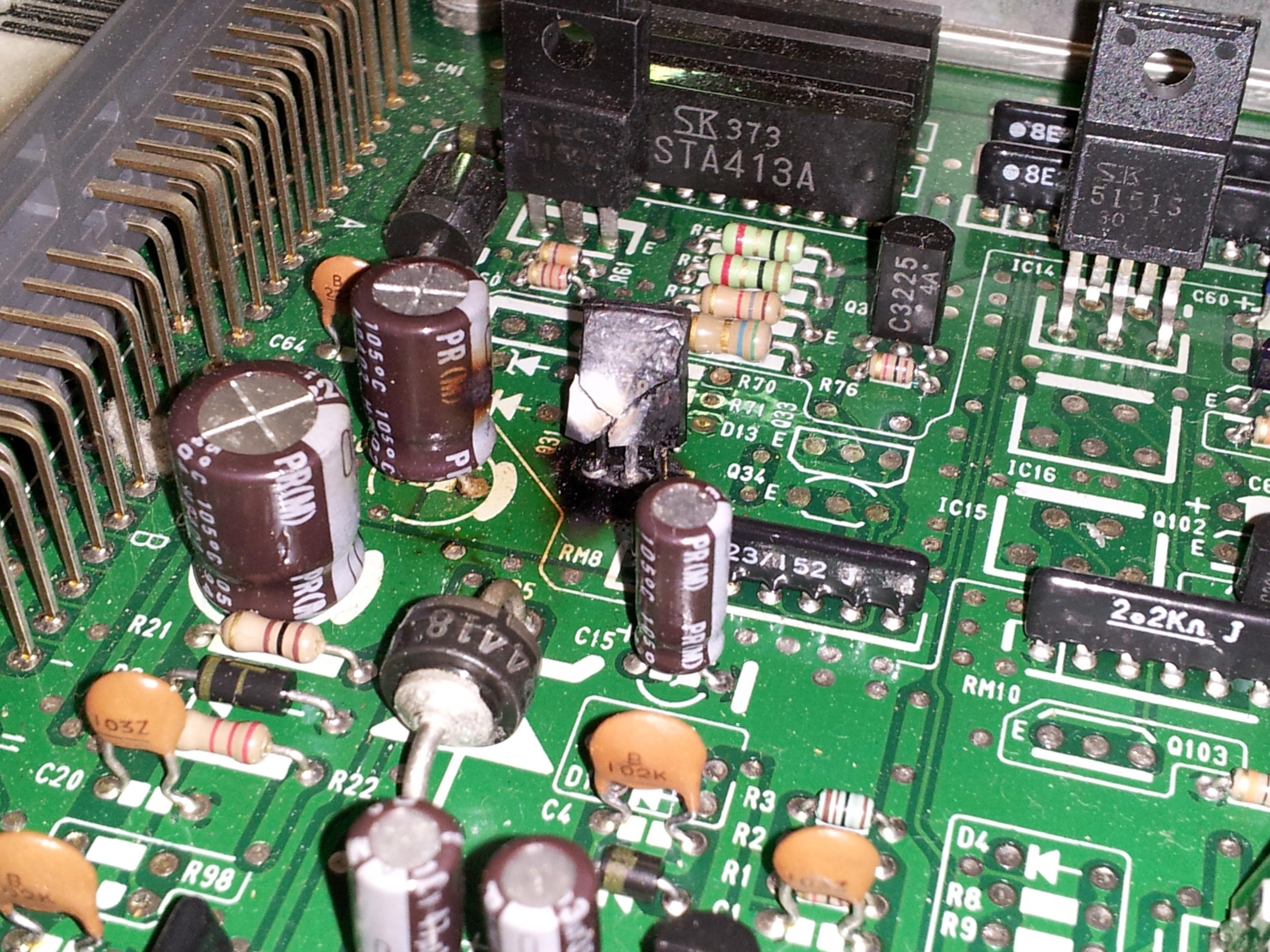burnt chip in ecu - D-series org